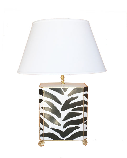 Black Zebra Lamp