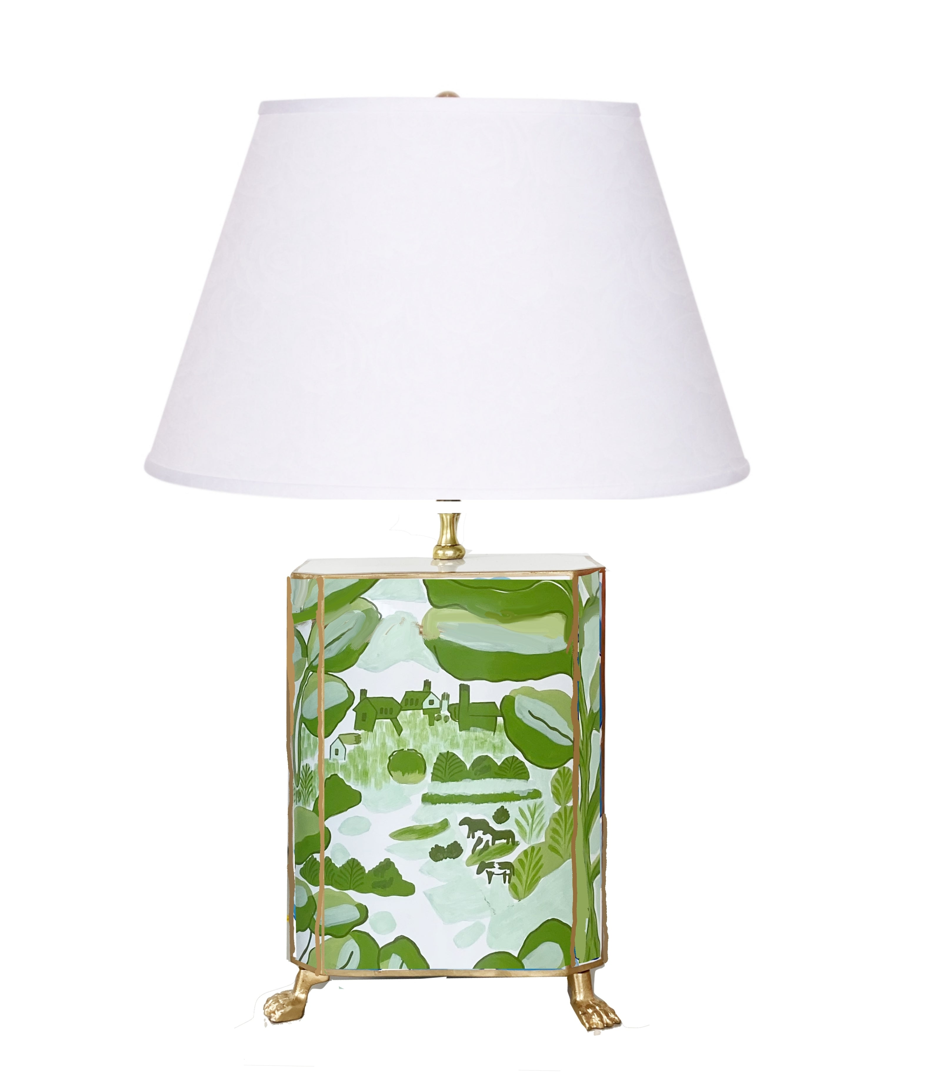 Bristow in Green Footed  Lamp