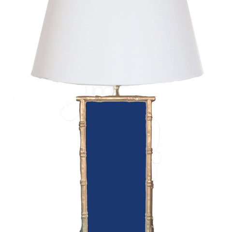 Bamboo in Navy Lamp
