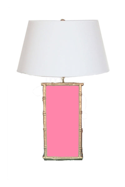 Bamboo in Pink Lamp