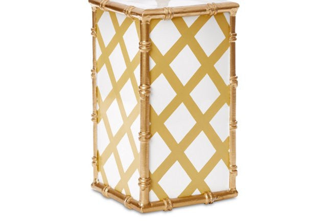 Bamboo in Taupe Lattice, New