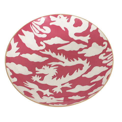 Pink Dragon Bowl, Medium