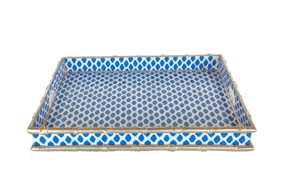 Navy Parsi Serving Tray