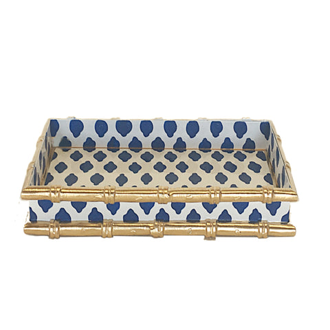 Bamboo in Navy Parsi Letter Tray