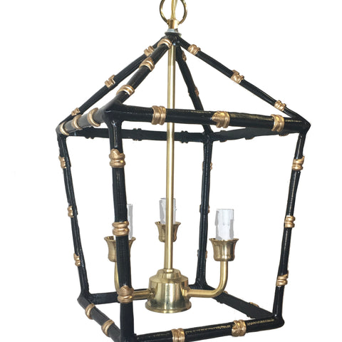 Bamboo Lantern in Black