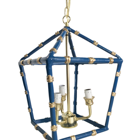 Bamboo Lantern in Navy, Small