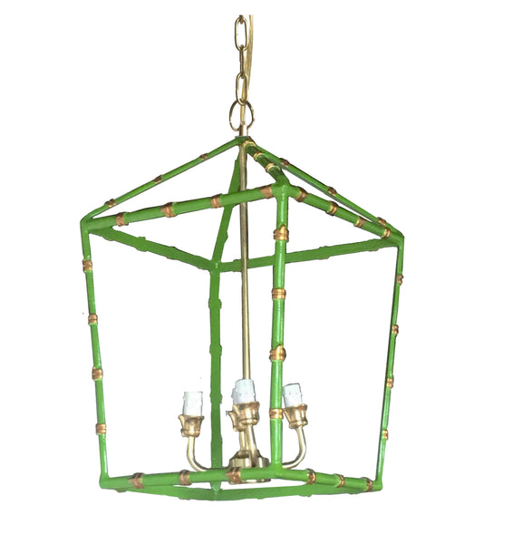 Large Bamboo Lantern in Green