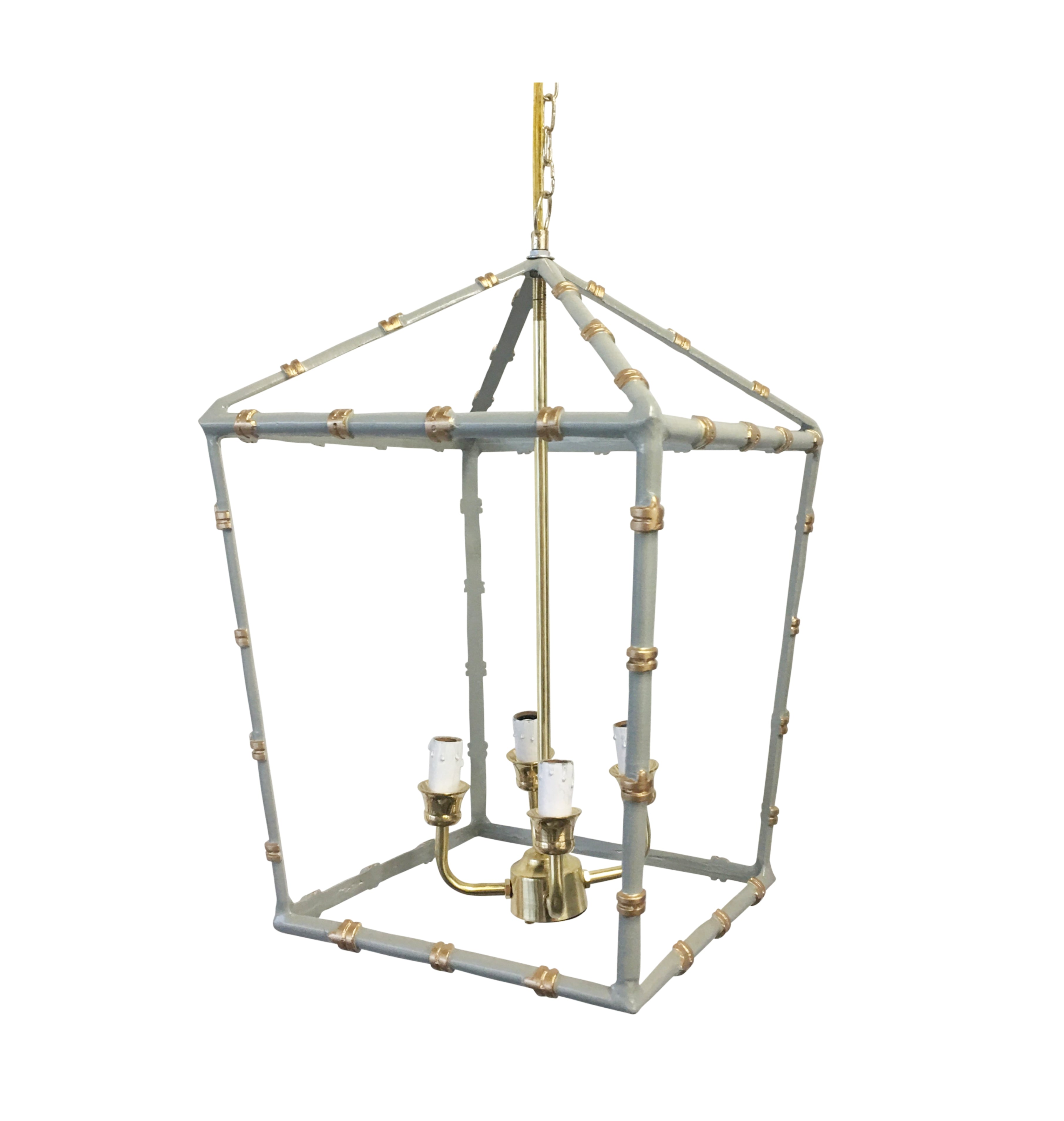 Large Bamboo Lantern in Grey