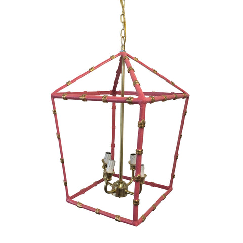 Large Bamboo Lantern in Pink
