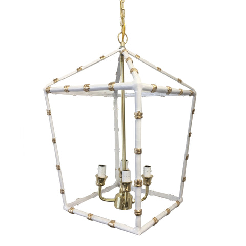 Large Bamboo Lantern in White