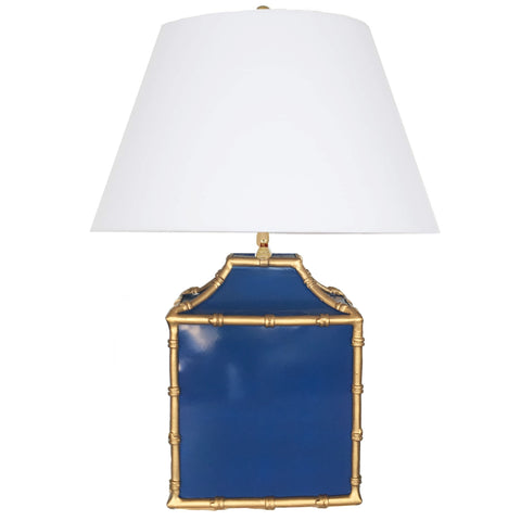 Pagoda in Navy Lamp