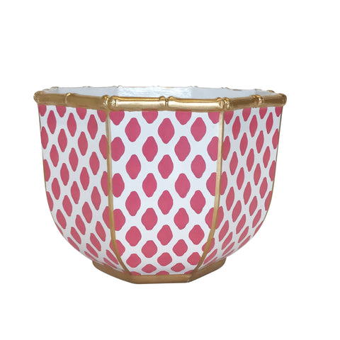 Large Bamboo Bowl in Parsi Pink
