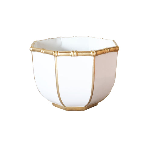 Large Bamboo Bowl in White