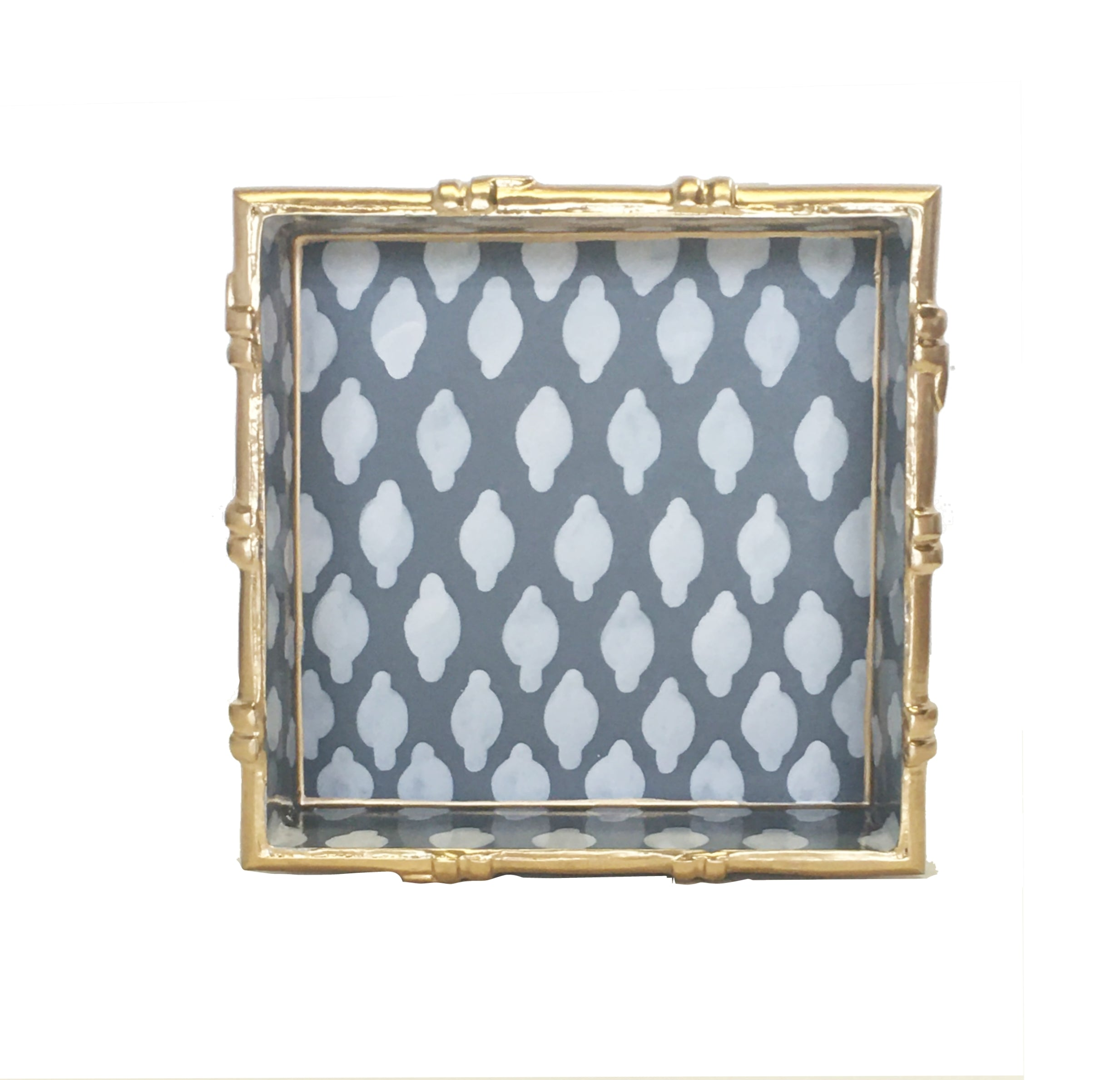 Bamboo in Parsi Grey Square Tray