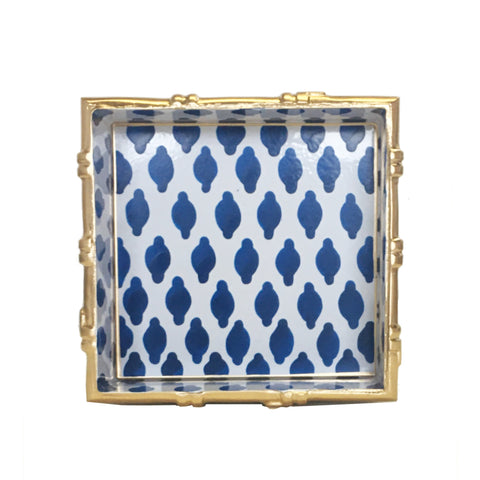 Bamboo in Parsi Navy Square Tray