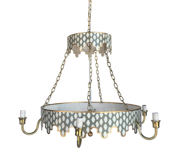 Parsi in Grey Chandelier