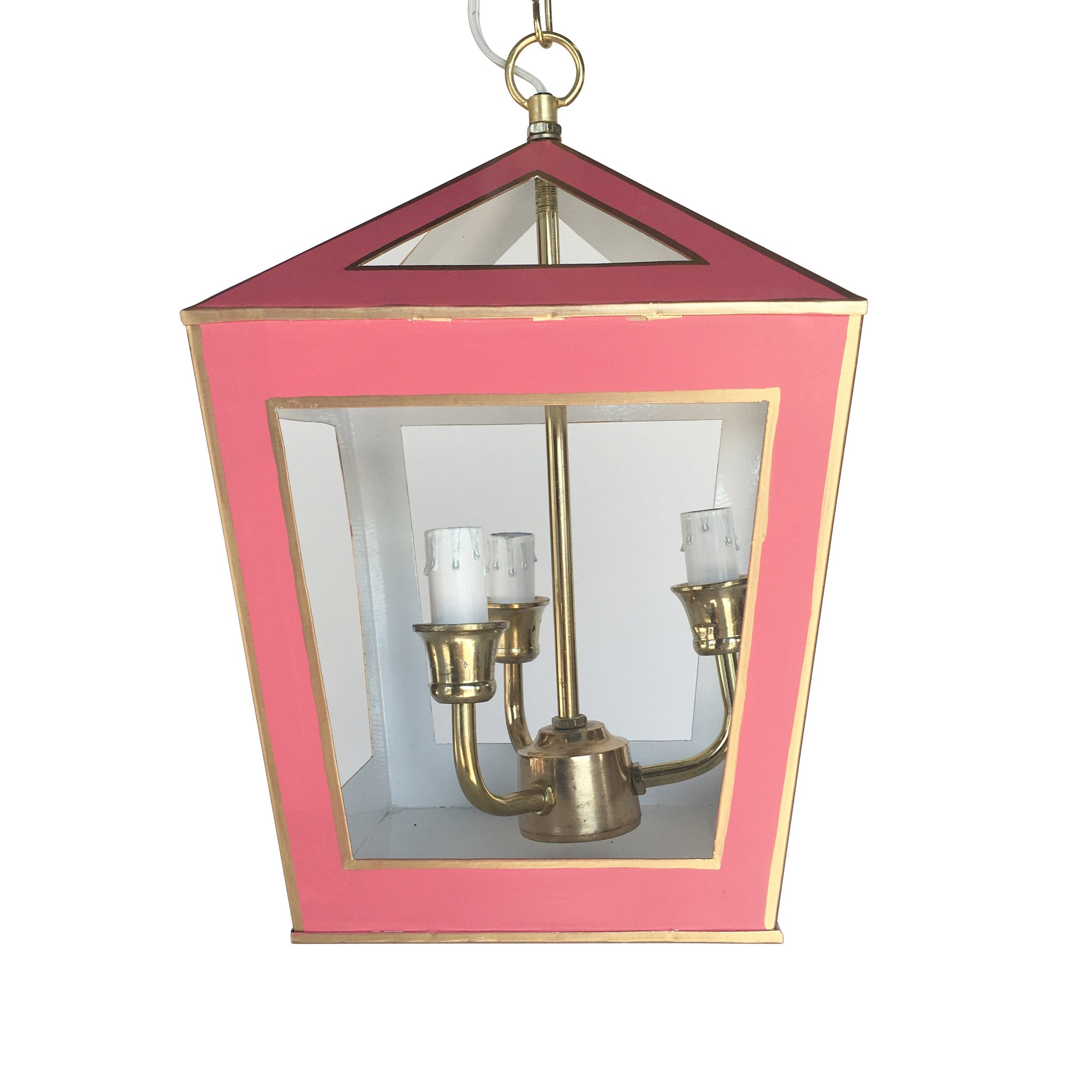 Tucker Lantern in Solid Pink