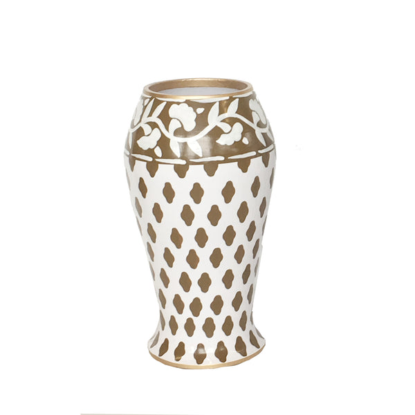 Parsi in Brown Farm Vase