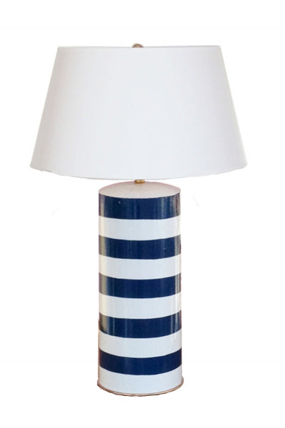 Blue Stripe Stacked Lamp Dana Gibson