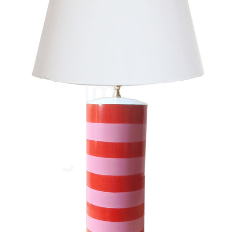 Stacked Lamp in Pink Orange