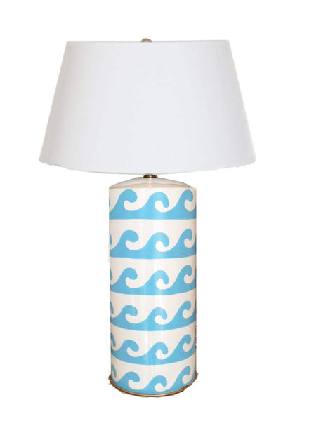 Wave Lamp in Turquoise