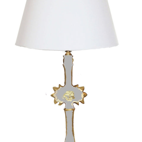 Salutation Lamp in Grey