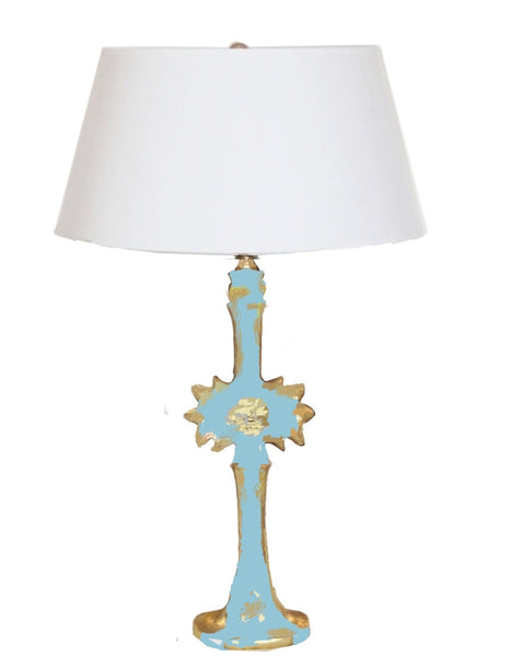 Salutation Lamp in Turquoise