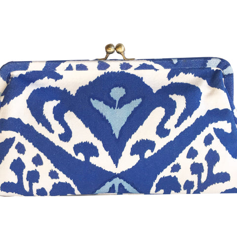 Blue Ikat Clutch