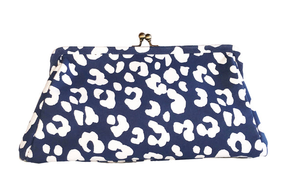 Navy Ocelot Clutch