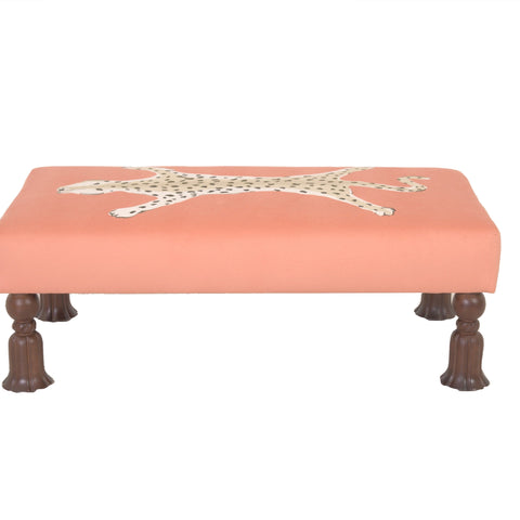 Islesboro Bench in Orange Leopard