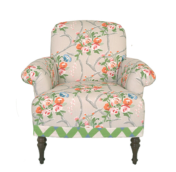 Josie Club Chair in Chiswell Chintz