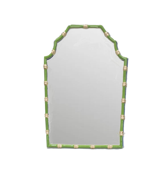 Bamboo Mirror in Green