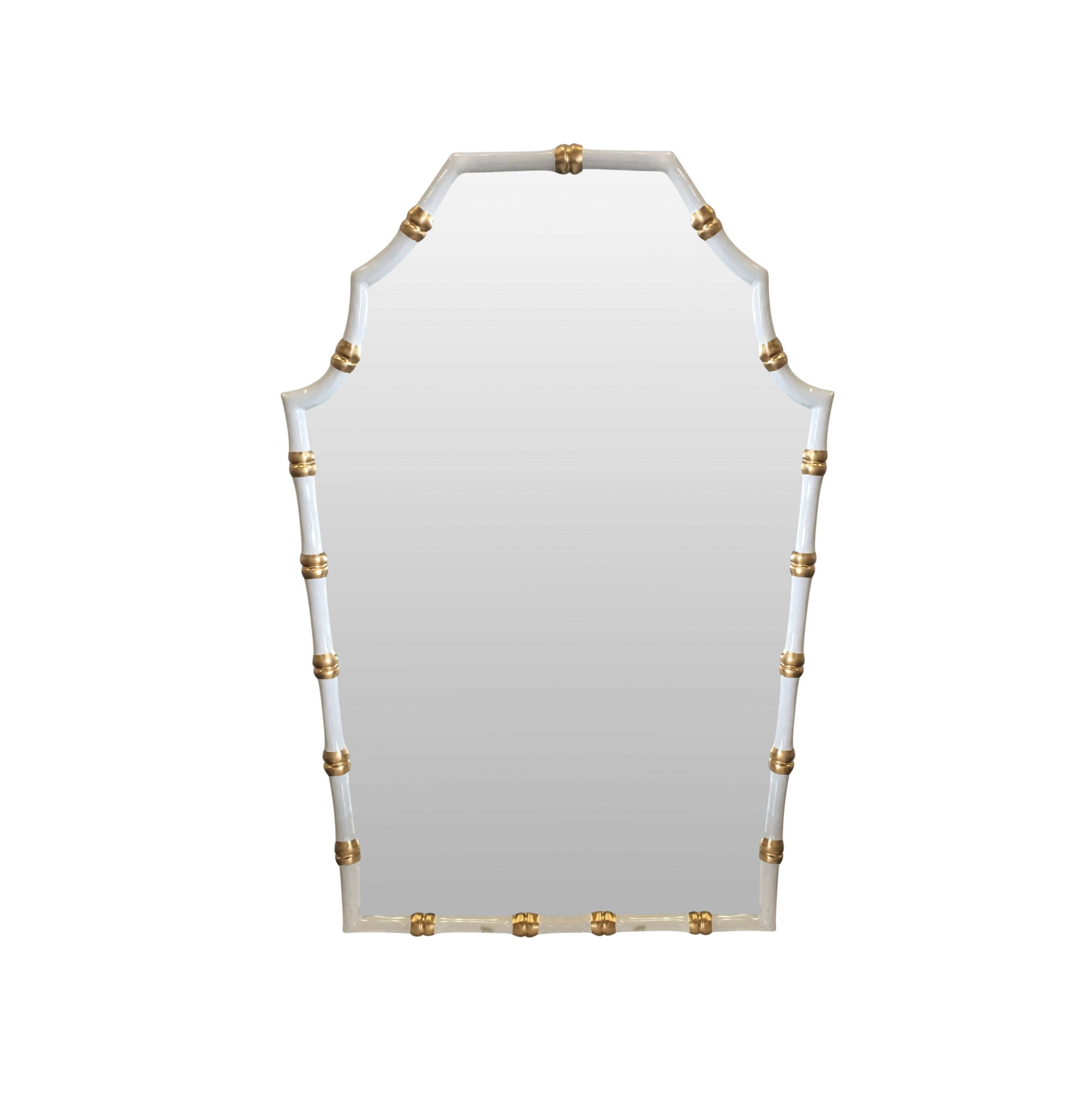 Bamboo Mirror in White
