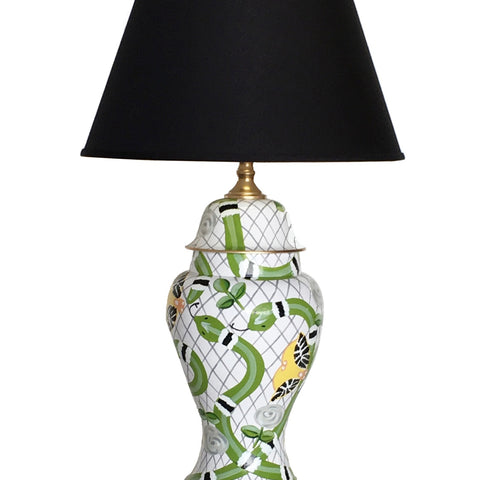 Palace Walls in Green Lamp