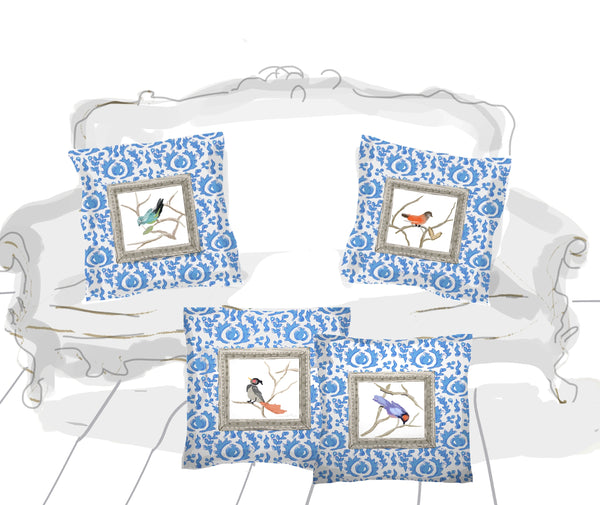 Grackle Bird Pillows, 18""