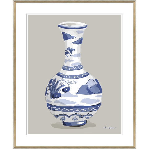 Indienne Vase in Blue