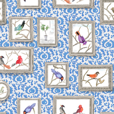 Grackle in Blue, Wallcovering
