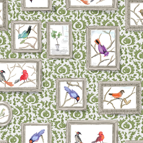 Grackle in Green,  Wallcovering
