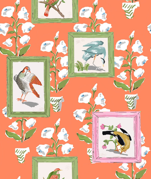 Mughal Bird, Wall Paper and Fabric