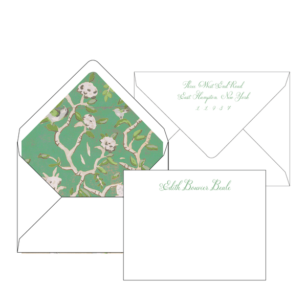 Ditchley Green Personalized Stationery-Flat card with Envelope Liner