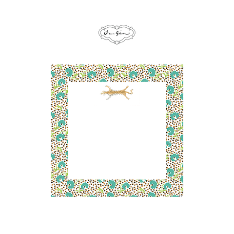 Jaipur Leopard Notepad-Turquoise