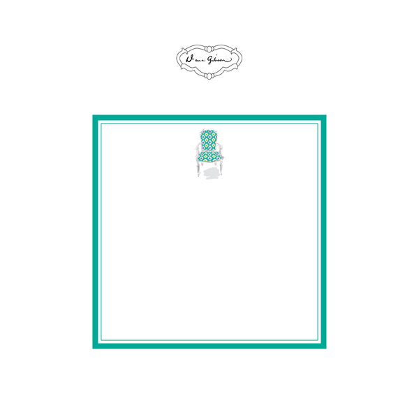 Nance Chair Notepad-Turquoise