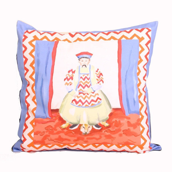 Emperor  Pillow in Blue