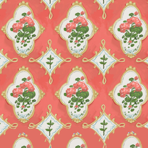 Marakesh in Coral, Wall Paper and Fabric