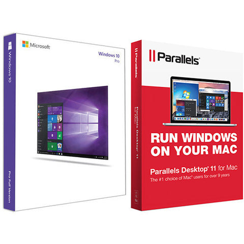 Microsoft Windows 10 Pro 64-bit Kit with Parallels Desktop 11 Pro for Mac