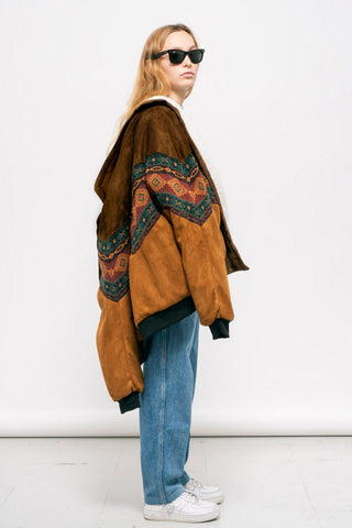 DAKOTA BROWN VEGAN NAVAJO BOMBER