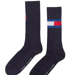 TOMMY HILFIGER SOLID LOGO NAVY SOCKS