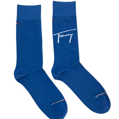 TOMMY HILFIGER SIGNATURE BLUE SOCKS