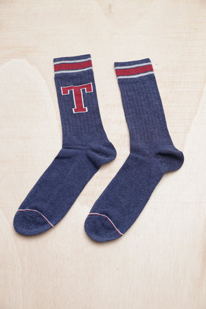 TOMMY HILFIGER PATCH DARK BLUE SOCKS