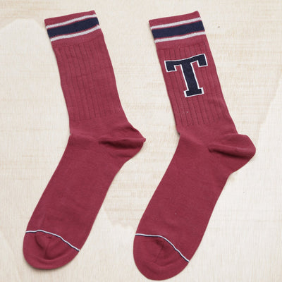 TOMMY HILFIGER PATCH BURGUNDY SOCKS - Arizona Vintage